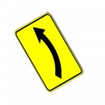 Download CAD files for Left Bend Sign