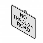Download CAD files for No Thru Road Sign