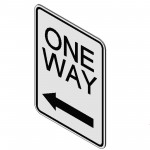 Download CAD files for One Way (Left) Sign