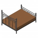 Download CAD files for Queen Bed (Type 3)