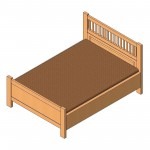 Download CAD files for Queen Bed (Type 4)