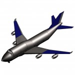Download CAD files for STE-Jumbo jet plane