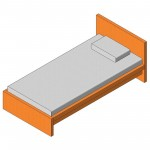 Download CAD files for Single Bed (Type 1)