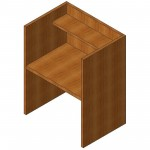 Download CAD files for Study Carrel