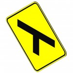 Download CAD files for Tee Intersection Sign