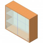 Download CAD files for Upper Cabinet-Pass-Thru w Glass