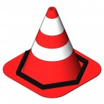 Download CAD files for Weighted Traffic Cone