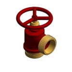 Download CAD files for Fire Hydrant Landing Valve QLD, SA – Roll Groove