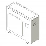 Download CAD files for Inverter Hybrid Floor Standing Reverse CycleCooling L-Series Split System 2.5kW – 3.5kW B