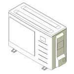 Download CAD files for Inverter Hybrid Wall Mounted Reverse CycleCooling Split System 2.5kW – 3.5kW