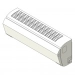 Download CAD files for Inverter  Wall Mounted type SMP Coolng 2.5kW – 7.1kW
