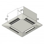 Download CAD files for Inverter Ceiling Mounted Cassette 600×600 SMP Cooling Only 2.5kW – 6.0kW