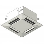 Download CAD files for Inverter Ceiling Mounted Cassette 600×600 SMP Heat Pump 2.5kW – 6.0kW
