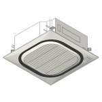 Download CAD files for Inverter Ceiling Mounted Cassette Type RoundFlow SSIA HeatPump 7.1kW – 140kW
