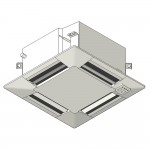 Download CAD files for Inverter Compact MF ceiling-mounted cassette type SASI Cooling 2.5kW – 6.0kW