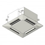 Download CAD files for Inverter Compact MF ceiling-mounted cassette type SASI HeatPump 2.5kW – 6.0kW