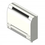 Download CAD files for Inverter Floor Standing Reverse Cycle  Daikin L-Series Split System 2.5kW – 7.1kW