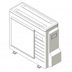 Download CAD files for Inverter Outdoor Units L-Series Split System Cooling 2.0kW – 7.1kW A