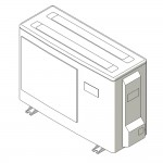 Download CAD files for Inverter Outdoor Units SASI  Cooling 2.5kW – 3.5kW