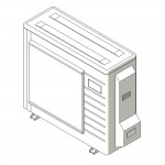 Download CAD files for Inverter Outdoor Units SASI  Cooling 5.0kW – 6.0kW