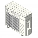 Download CAD files for Inverter Outdoor Units Split System Reverse Cycle 2.8kW – 5.0kW