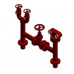 Download CAD files for Firemain BoosterHydrant Pipeset 100TE