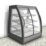 Download CAD files for Heated Food Display Case with Curved Sliding Door