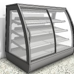 Download CAD files for Refrigerated Food Display Case with Curved Sliding Door