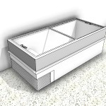 Download CAD files for Ice Cream Display Freezer Type 1