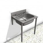 Download CAD files for Stainless Steel Cleaners Sink Type 1
