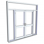 Download CAD files for Commercial Series 626 FrontGLAZE