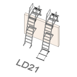 Download CAD files for Safety Access Ladder LD21