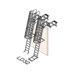 Download CAD files for Safety Access Ladder LD32