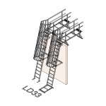 Download CAD files for Safety Access Ladder LD33
