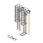Download CAD files for Safety Access Ladder LD41