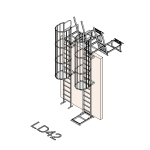 Download CAD files for Safety Access Ladder LD42