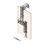 Download CAD files for Safety Access Ladder LD46