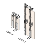 Download CAD files for Safety Access Ladder LD51