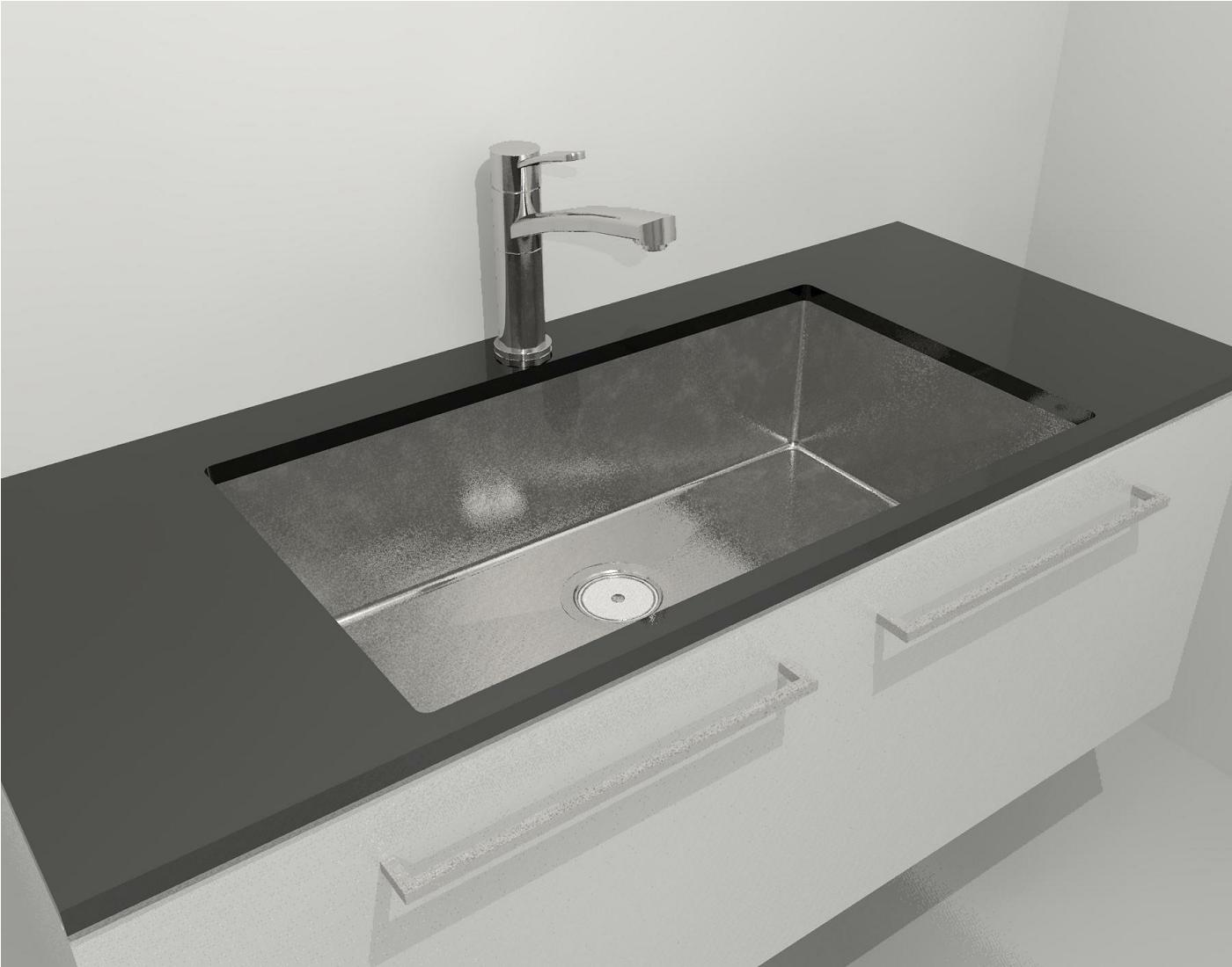 ... CAD files for Clark Prism Single Large Bowl Undermount/Overmount Sink