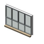 Download CAD files for Residential Series 516 Residential Awning/Casement/Fixed Window (50mm frame)