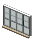 Download CAD files for Designer Series 614 ClearVENT Sashless Double Hung Window