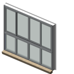 Download CAD files for Designer Series 602 MAGNUM Sliding Window (Double Sash Design)