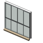 Download CAD files for Residential Series 506 Residential Sliding Window
