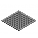 Download CAD files for Access Floor Panel 20%