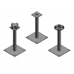 Download CAD files for Access Floors Posts