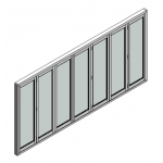 Download CAD files for Door BiFold Trend ThermAL