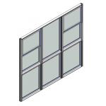 Download CAD files for Window Double Hung Trend Synergy Widestyle 64mm