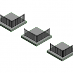 Download CAD files for Loop Top Aluminium Pool Fence