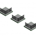 Download CAD files for Flat Top Aluminium Pool Fence