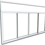 Download CAD files for Architectural Series 704 SlideMASTER Sliding Door